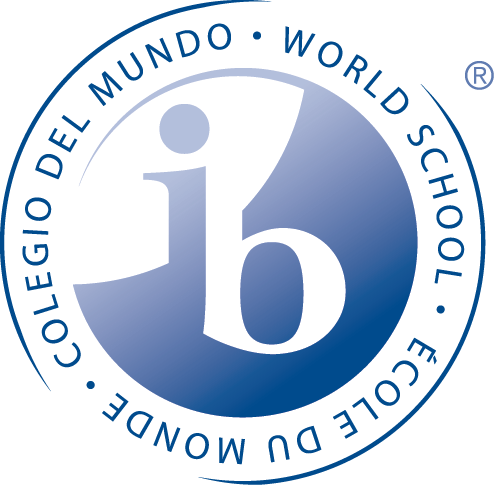 IB blue seal logo and the words world school around the seal